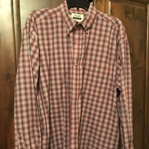 Men's Wrangler L/S Button Down Shirt
